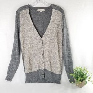 3/$30 LOFT S Metallic Two Tone Gray Cardigan 3465